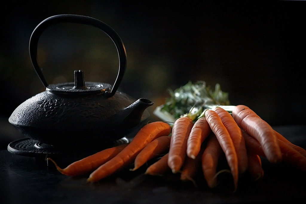 Théière Japonaise et carottes nouvelles. 117079CarottesetThireJaponaise1000