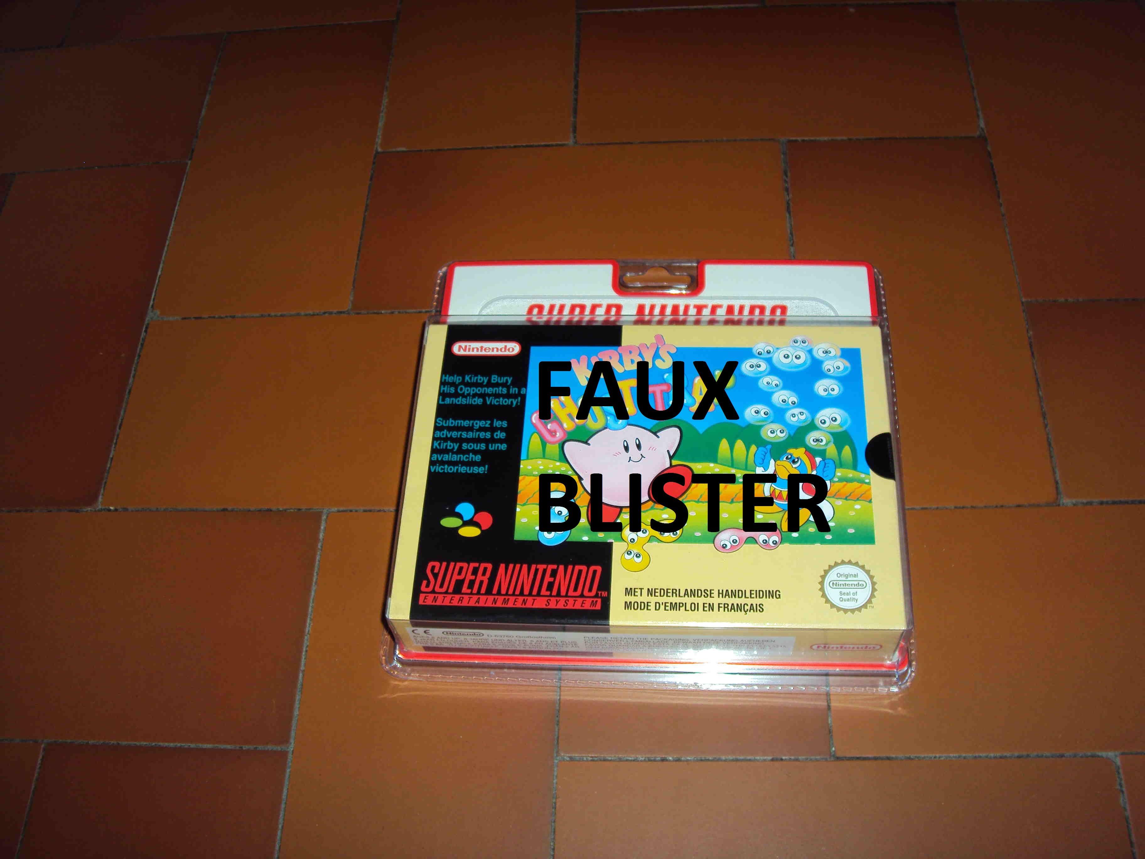 ALERTE A LA VIGILANCE --- FAUX BLISTER SNES 118540KGTFrontbox2