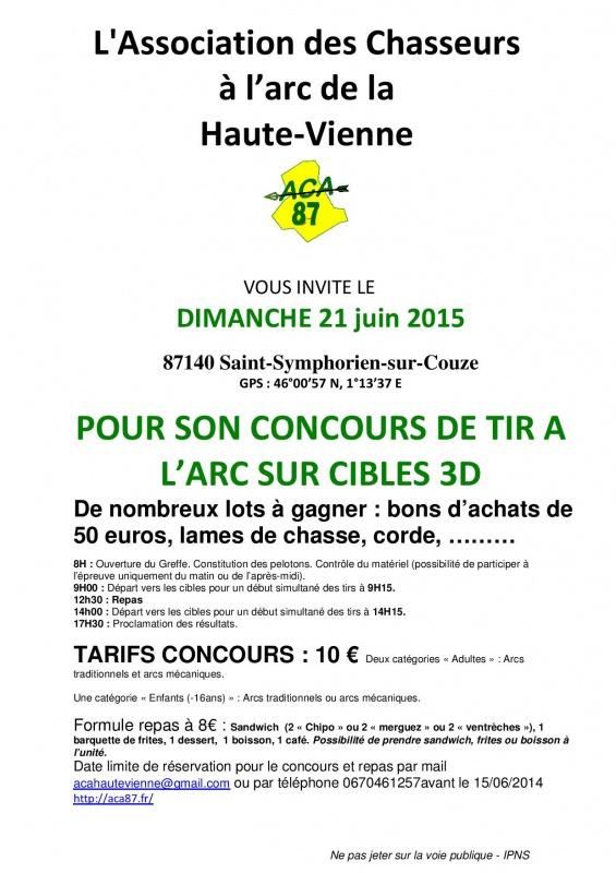 21 Juin concours 3D en Limousin 120796Afficheconcours2015page001