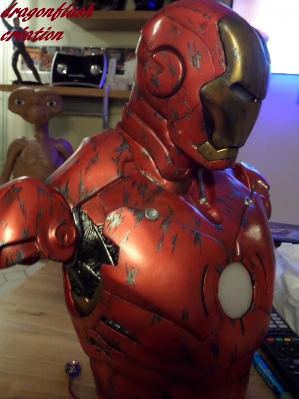 dragonflash création : buste iron man 1/2  (+-40 cm de haut) le final 1238331254