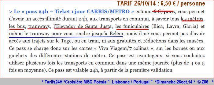 Z06 / C/R MSC.... Poesia 21/10 au 30/10 2014   Gêne Malaga Casablanca Lisbonne Barcelone Marseille 126334Tarifs24H