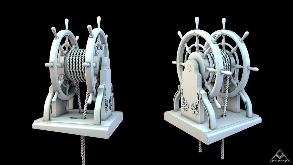 Frégate m'a première réalisation d'un navire en 3D. - Page 6 128254Frgatebarre