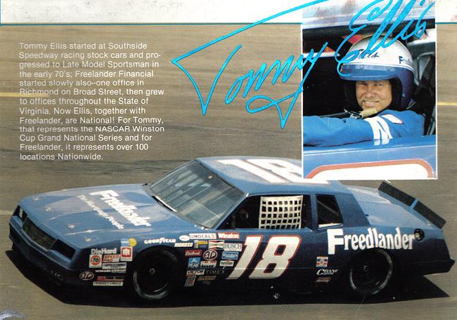 Chevy Monte-Carlo 1986 #18 freedlaander Tommy ELLIS 134588tommy18vi