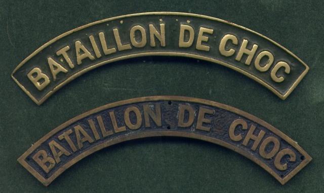 LES INSIGNES DU BATAILLON DE CHOC 1943/1963. 135132File0040