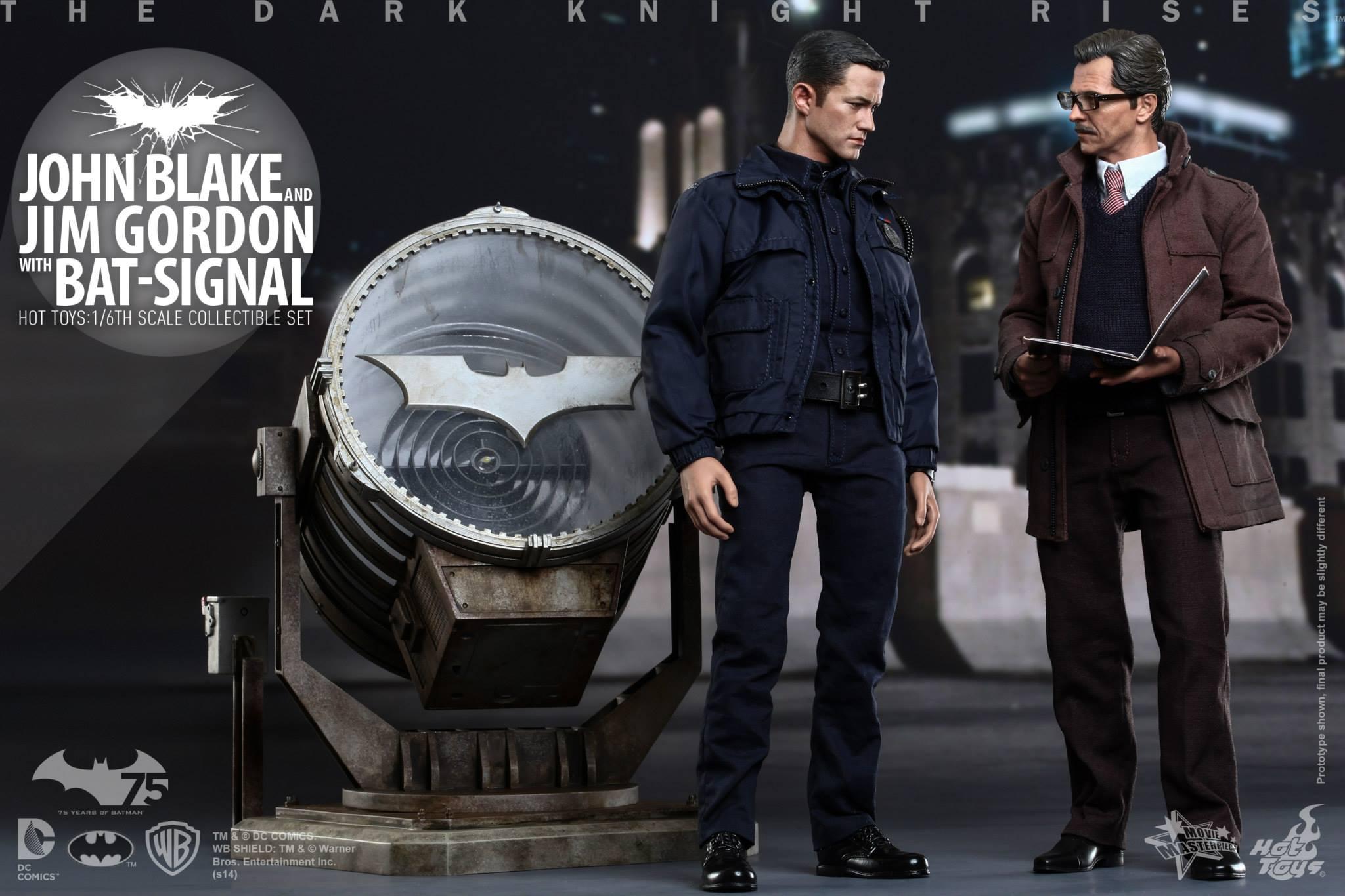 THE DARK KNIGHT RISES - Lt. JIM GORDON & JOHN BLAKE w/BATSIGNAL 153520104