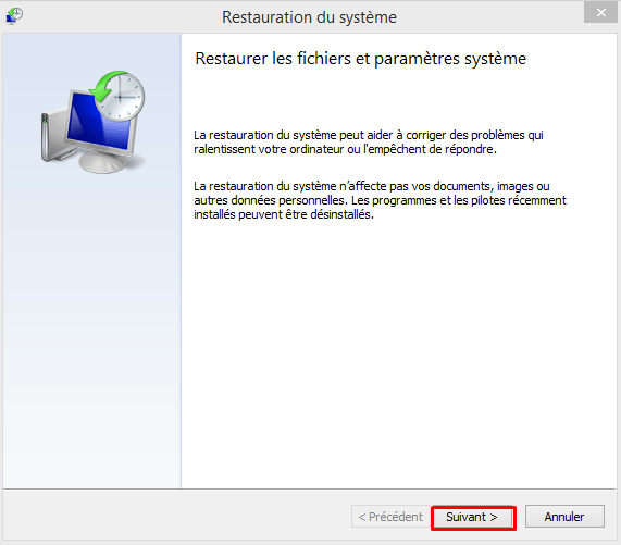 Restaurer son pc avec la sauvegarde image Windows 8.1 154230restaurationimageW814