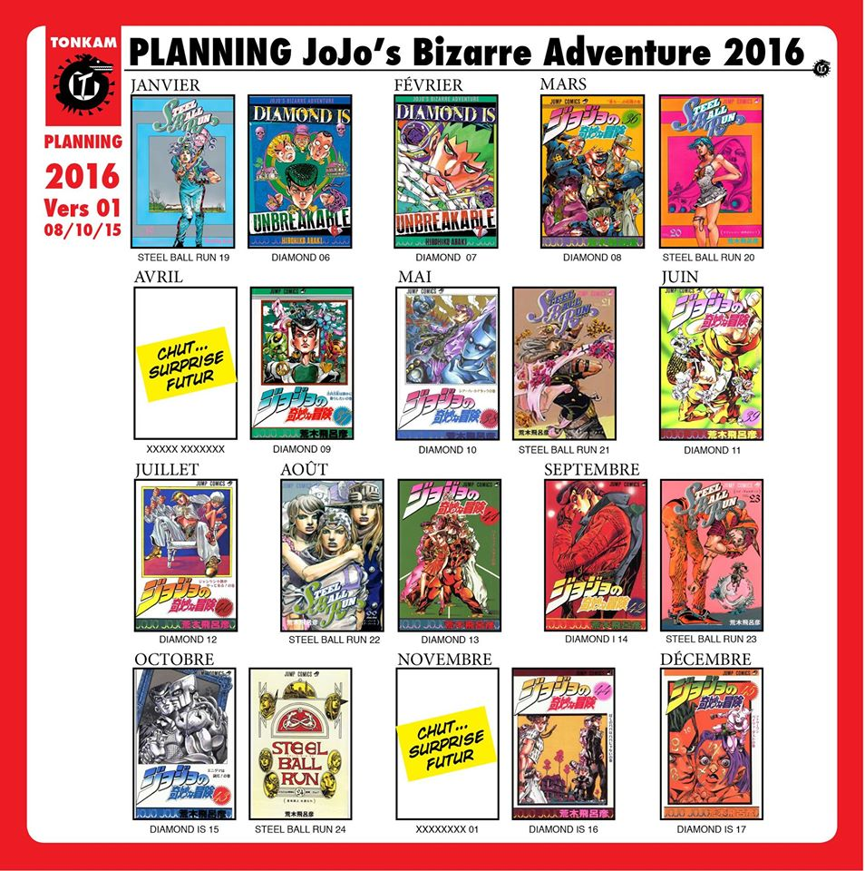 Planning des sorties des tomes de JoJo's Bizarre Adventure 155052JoJoTonkam