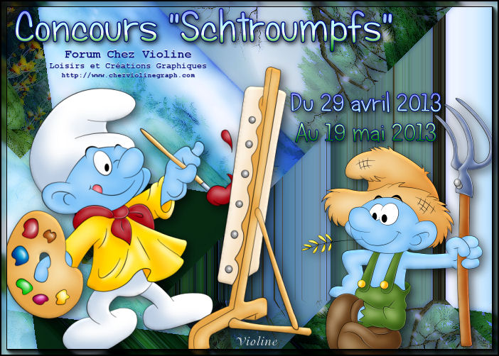 Chez Violine - Forum de Loisirs et Créations Graphiques - Page 3 158254BanSchtroumpfs290413