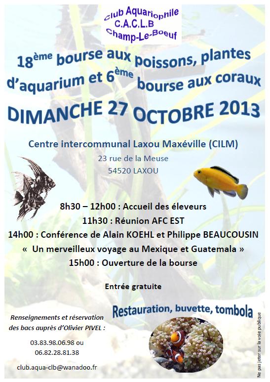Bourse - Champ-le-Boeuf (54) - dimanche 27 octobre 2013 158427AfficheBourseCACLB2013V3