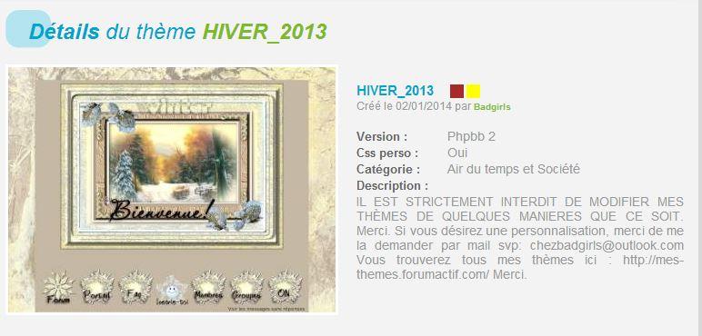 THÈMES HIVER  165223HIVER2013