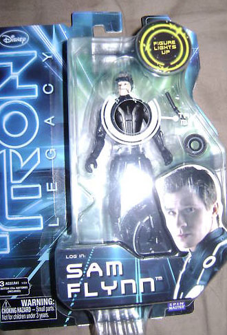"TRON LEGACY fig 3""3/4 166724Sam_Flynn_Tron_Legacy_toy_action_figure"