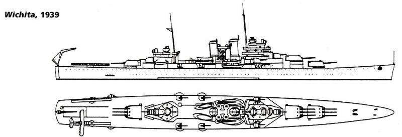 USN CROISEUR LOURD USS WICHITA 166905USSWichita1939