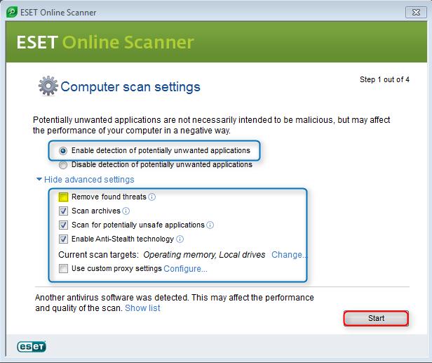 ESET Online Scanner 169752eset6