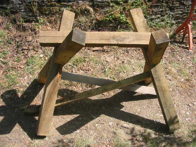 Bricolage chevalet de tron onnage bois - Fabriquer un chevalet pour couper le bois ...