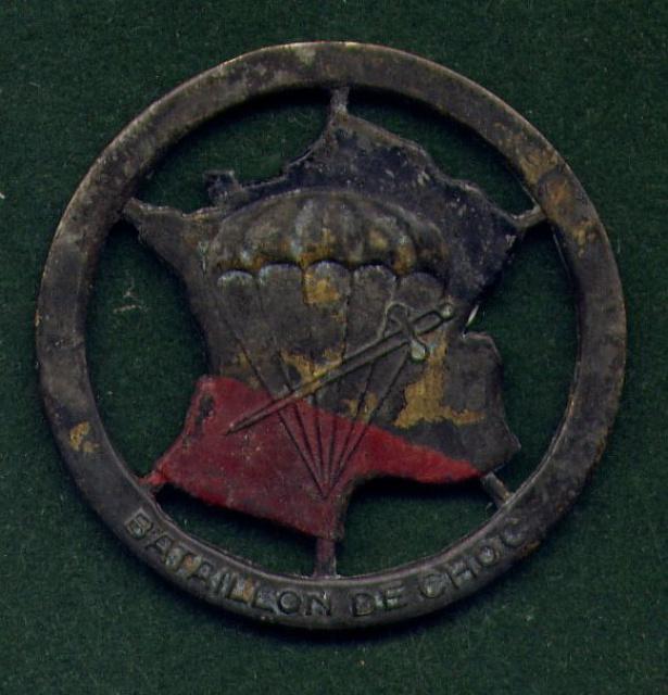 LES INSIGNES DU BATAILLON DE CHOC 1943/1963. 180394FDlourd
