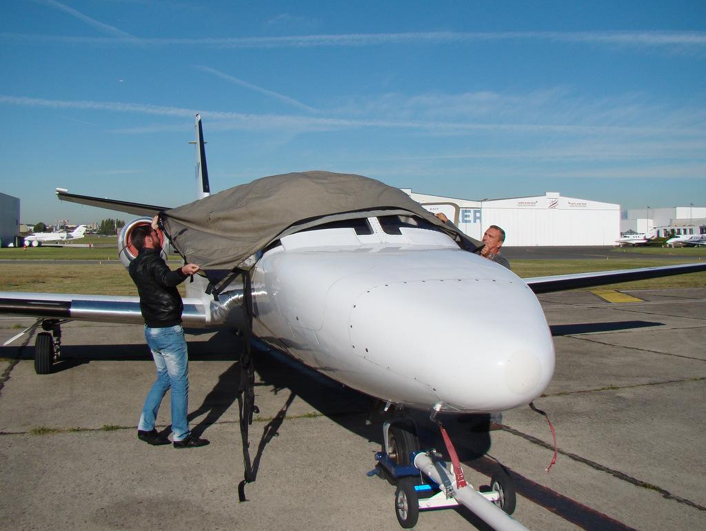 Vol en Cessna 550 CitationII , Cannes-Le Bourget 180424DSC03462