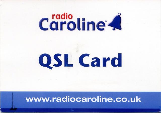 QSL de Radio Caroline 180632Caroline20170814