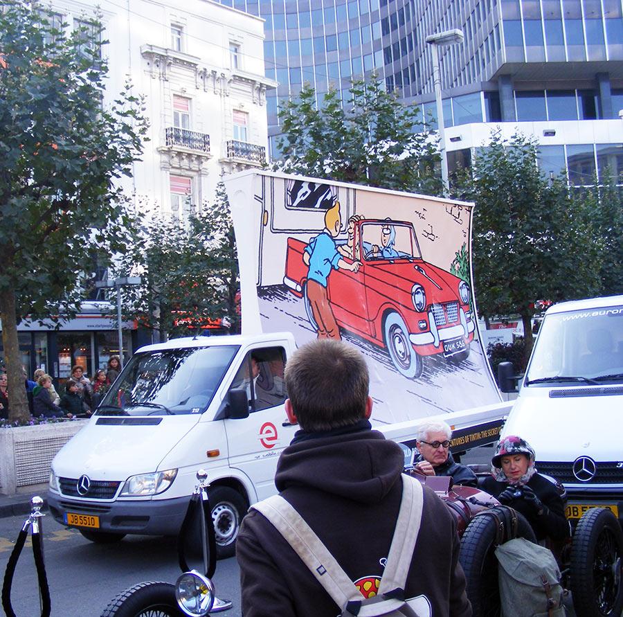 """Bruxelles côté BD  """"Tintin en automobile"""" 180722DSCF6142"""