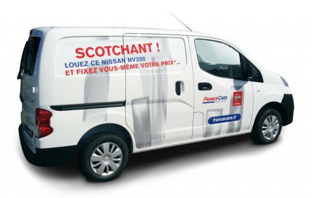 Louez le Nissan NV 200 chez France Cars et fixez vous même votre prix  18230313249Photo1