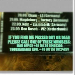 17.09 - Walls Of Jericho + DeathBeforeDishonor + .. @ Paris 182777photo1