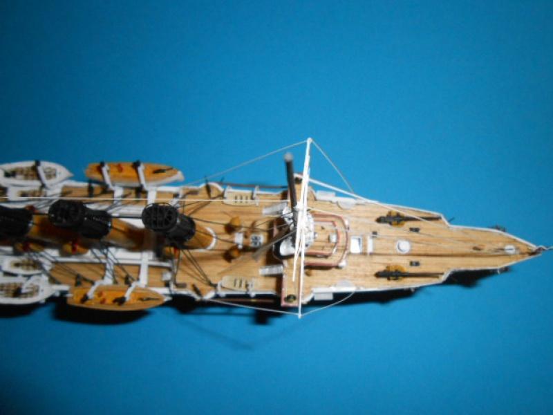 """Croiseur Russe """"VARYAG"""" 1/350 PE + Pont en bois de chez Zvezda 185050Croiseur011"""