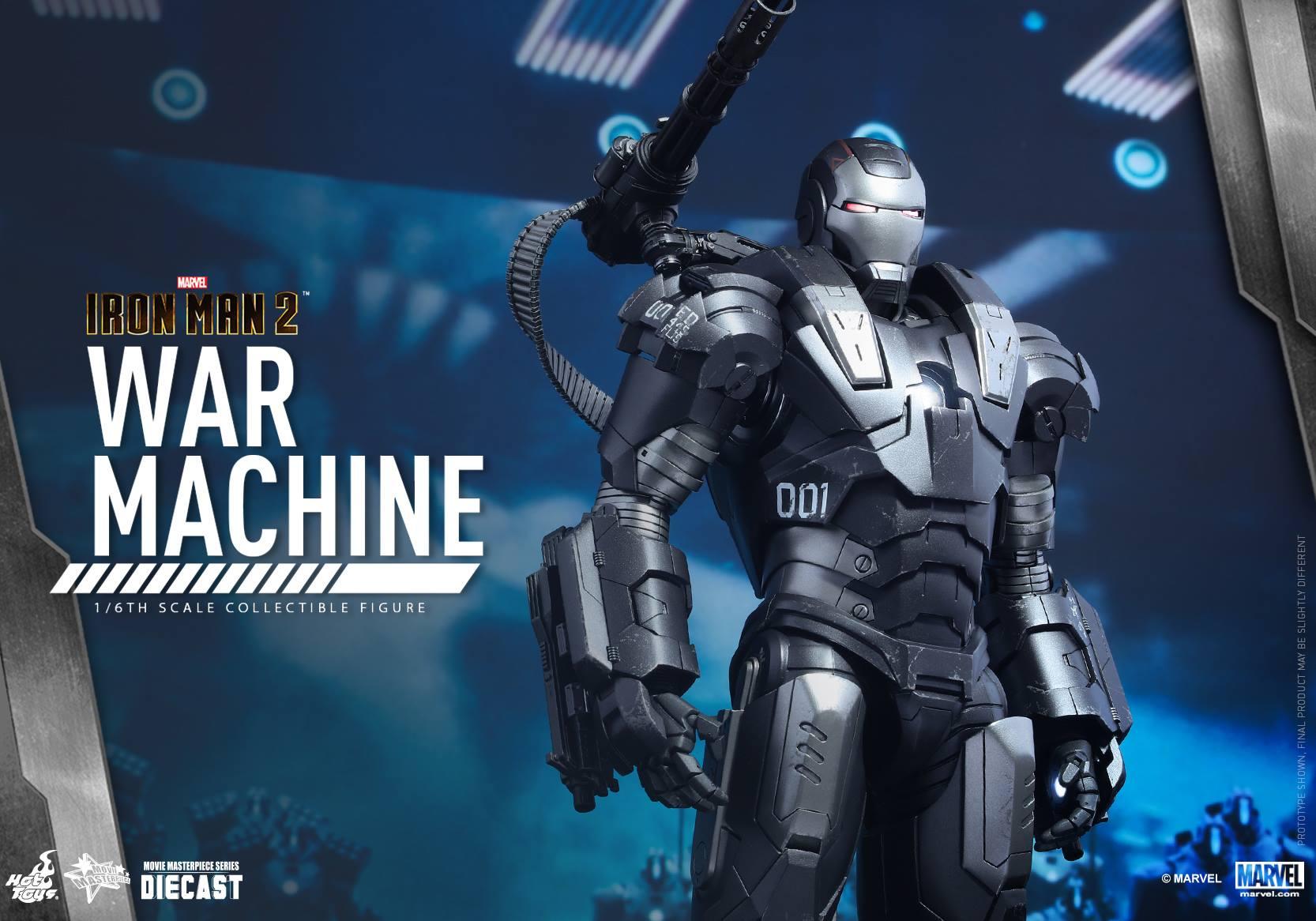 HOT TOYS - Iron Man 2 - War Machine Diecast 185558112