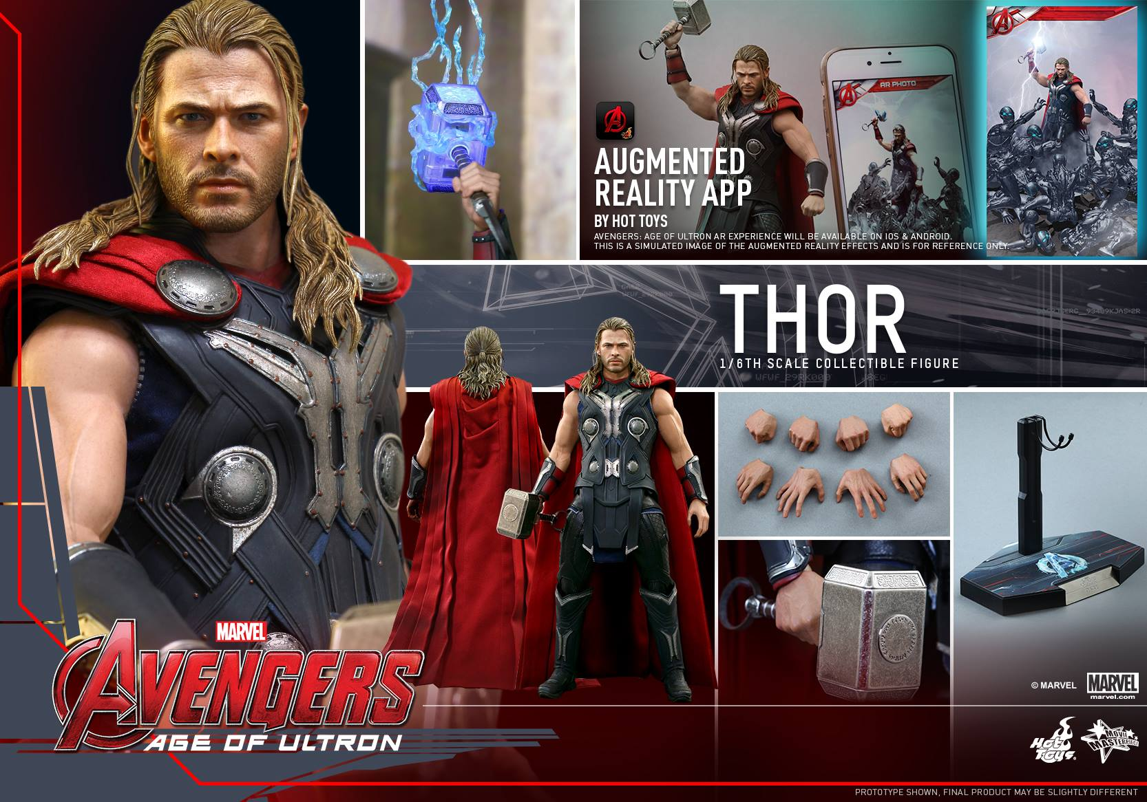 HOT TOYS - Avengers: Age of Ultron - Thor 187148116