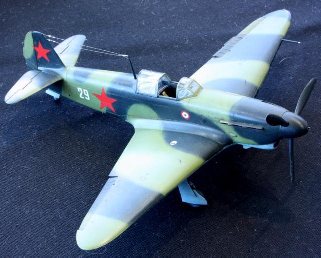 Yak-1b d'Yves Mahé, maquette au 1/48 198701Yak1b