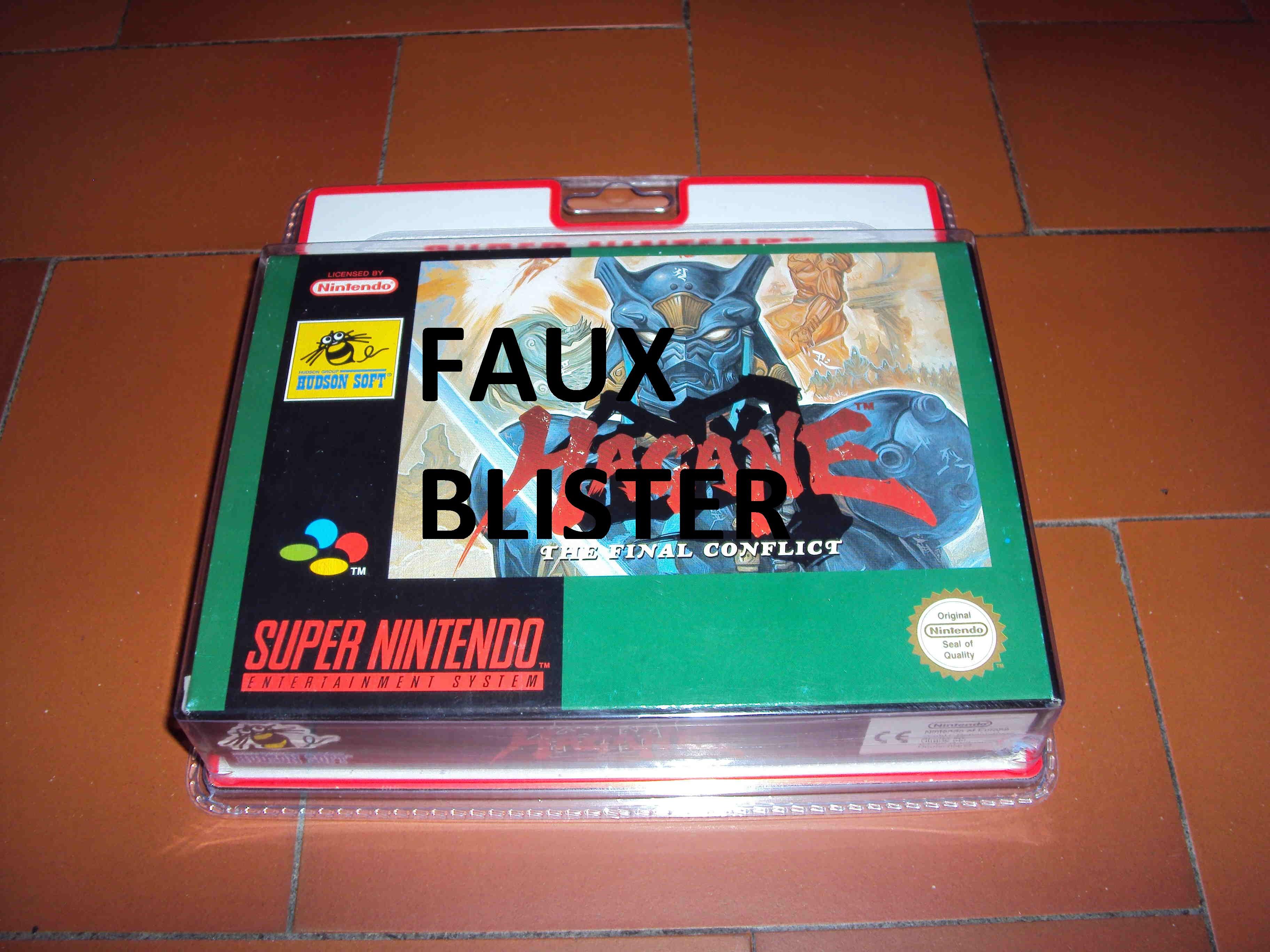 ALERTE A LA VIGILANCE --- FAUX BLISTER SNES 199665Photo12