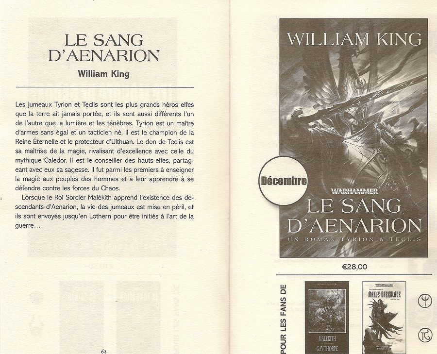 Le Sang d'Aenarion de William King 200427Lesansdaenarion