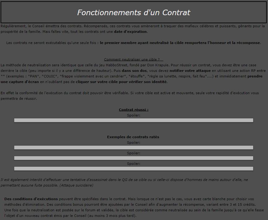 Le Role Play d'Interpol 208149Contrat