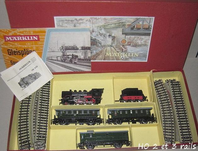 Coffrets Märklin 1936 - 1968 (rouges, noirs, verts ou bleus) 209011MarklincoffretFM829R