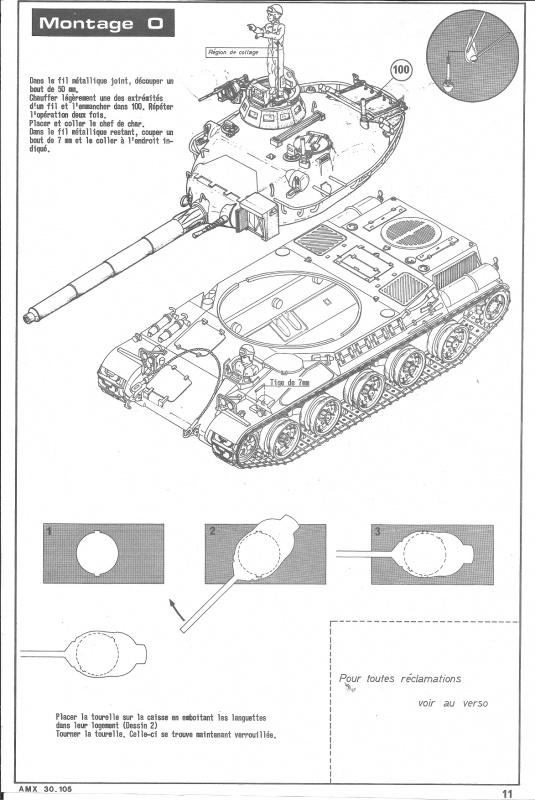 AMX 30 canon de 105 - (Réf. L810) 1/35 210458HellerAMX30105810011
