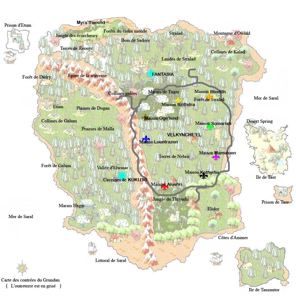 Situation géographique des contrées du Grundan dans les royaumes oubliés 210473CarteduGrundan