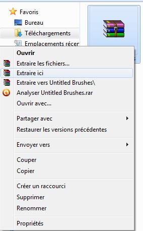 [Photoshop] Installer des brushs (novice) 212757extraire