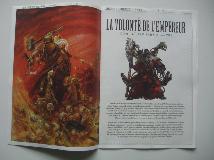 La Volonté de l'Empereur de John Blanche (Art Book) 213823VolontedelEmpereur