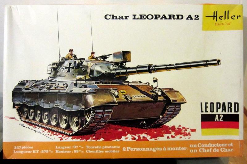 Char LEOPARD A2 - (Réf. 822) 1/35 214417HellerLopardA2822000