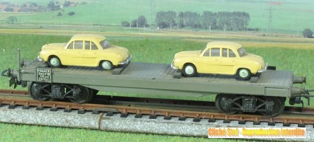 Wagons plats à bogies maquette et semi maquette chargés 215470VBsemimaquettebogies2DauphineIMG3226