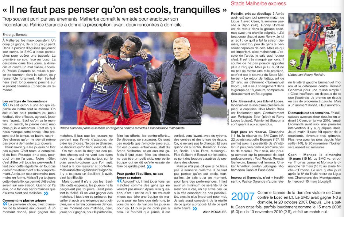 [26e journée de L1] SM Caen 0-1 Lille OSC 220767lille