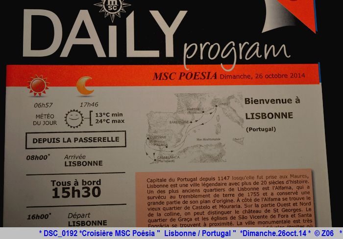 Z06 / C/R MSC.... Poesia 21/10 au 30/10 2014   Gêne Malaga Casablanca Lisbonne Barcelone Marseille 220982DSC0192