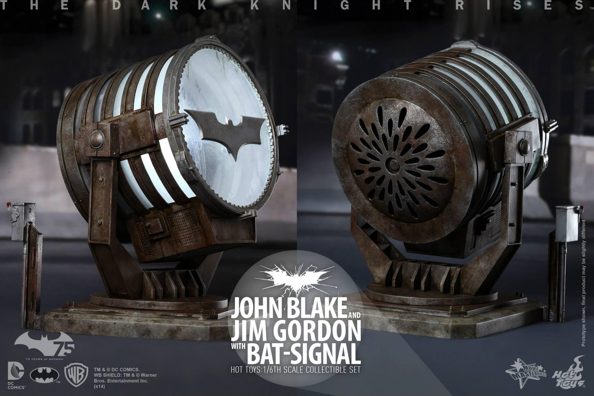 THE DARK KNIGHT RISES - Lt. JIM GORDON & JOHN BLAKE w/BATSIGNAL 221020109