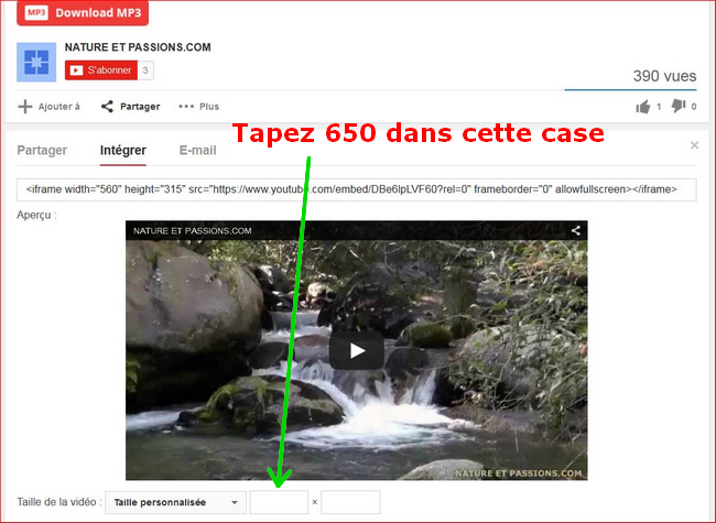 insertion - Tuto - Insertion d'une vidéo youtube 221219301c