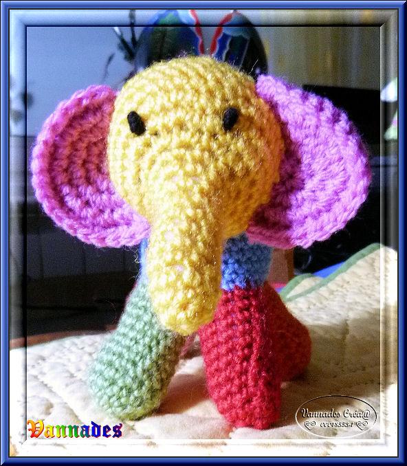 petit Eléphant au crochet  222887Elephant2