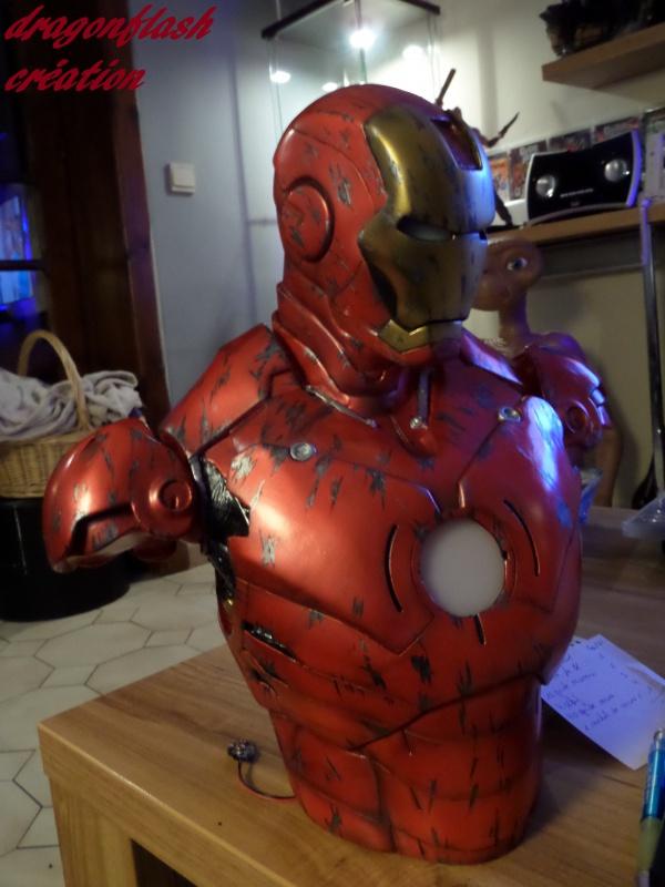 dragonflash création : buste iron man 1/2  (+-40 cm de haut) le final 2269162950
