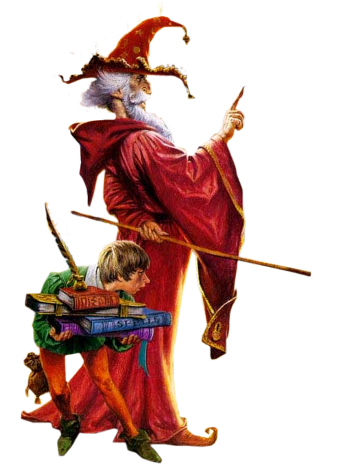 Merlin et son lutin scribe  228213Merlinetsonpetitlutin