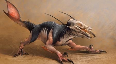 Vue d'artiste d'un Caecuraptor