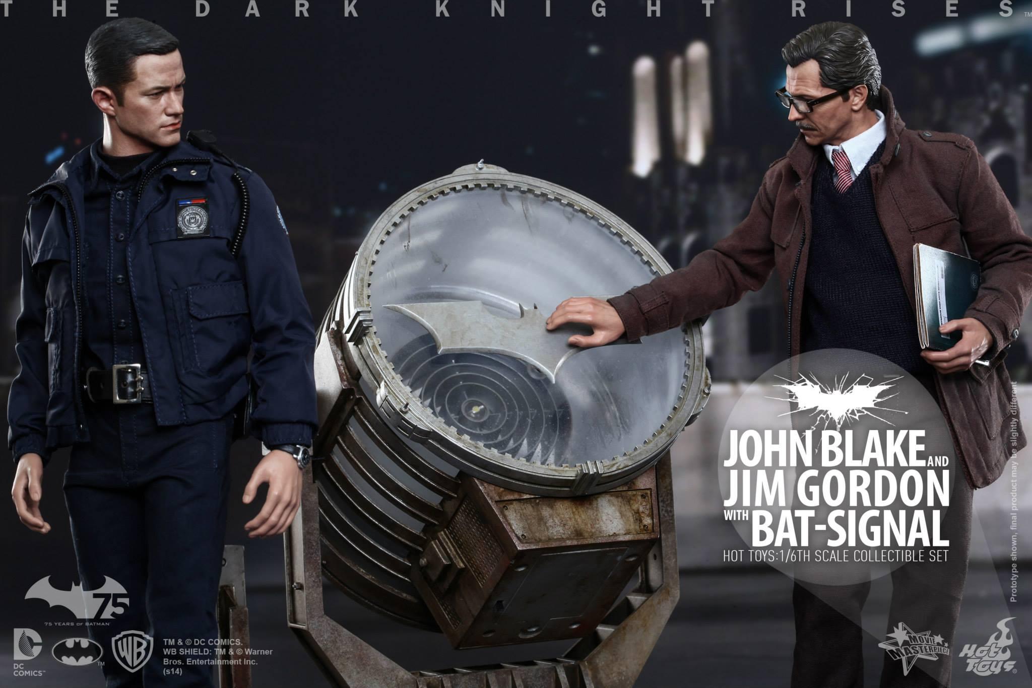 THE DARK KNIGHT RISES - Lt. JIM GORDON & JOHN BLAKE w/BATSIGNAL 234081101