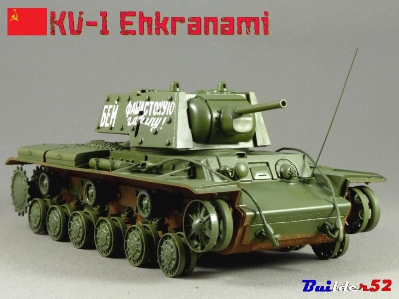 KV-1 Ehkranami  -  TRUMPETER 1/35 - Page 3 236075P1030293