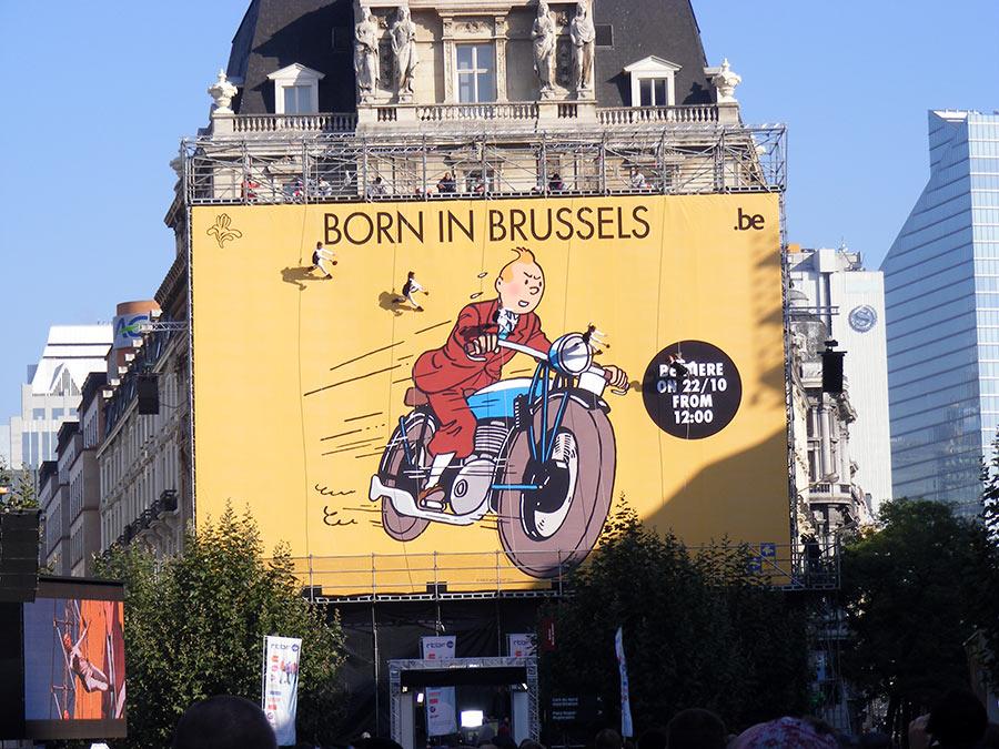 """Bruxelles côté BD  """"Tintin en automobile"""" 244715DSCF6203"""