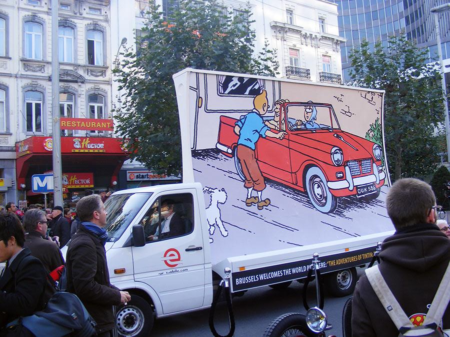 """Bruxelles côté BD  """"Tintin en automobile"""" 247289DSCF6143"""
